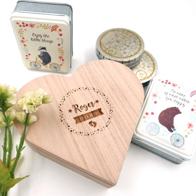 Cajita de madera corazón