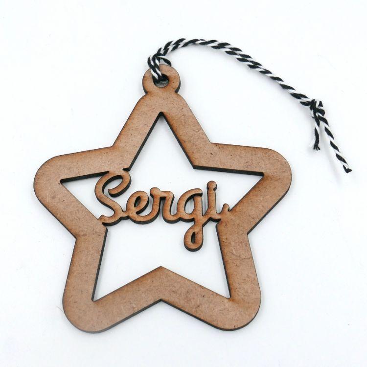 Estrella de madera personalizada