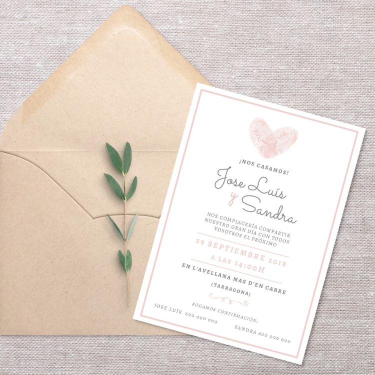 Invitació Heart