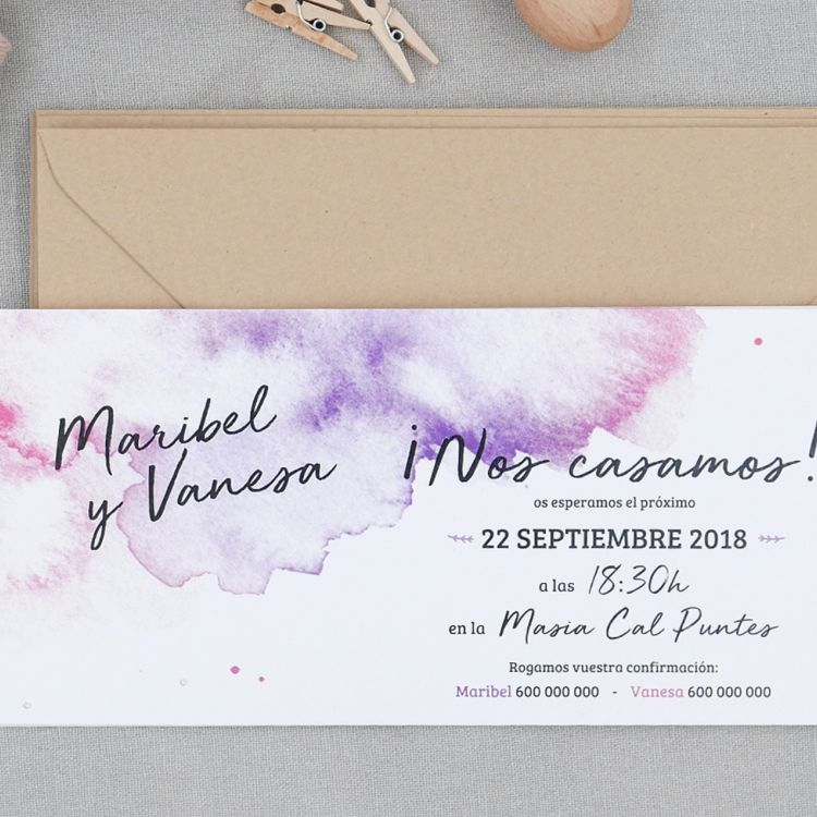 Invitación Watercolor