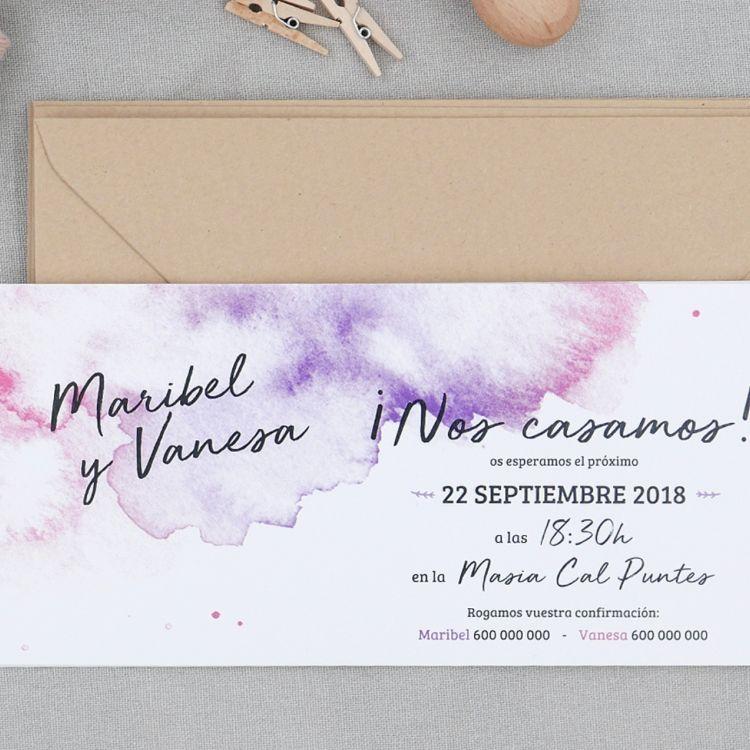 Invitación Watercolor