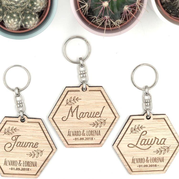Llaveros de Madera personalizados