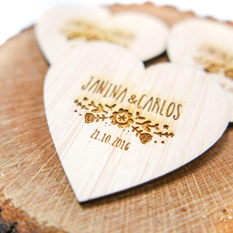 Imanes de madera