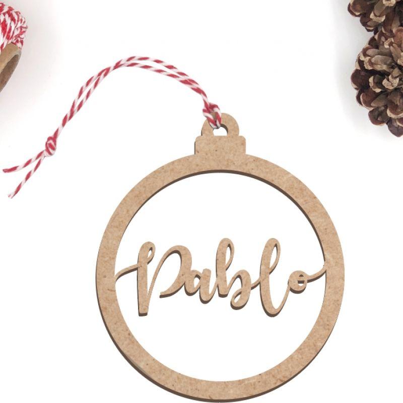 Bola de Navidad modelo Lettering