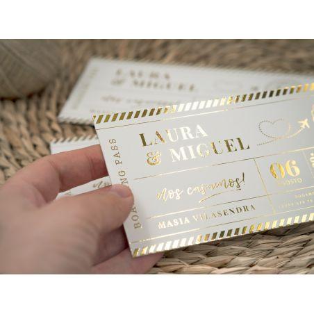 Invitación Modelo Boardingpass Gold
