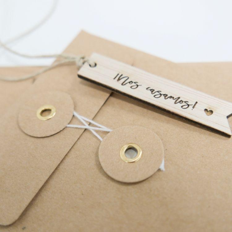 Pack 10 tags madera