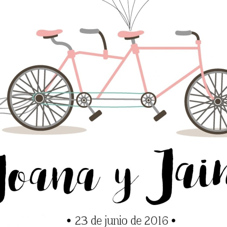 Poster huellas bicicleta