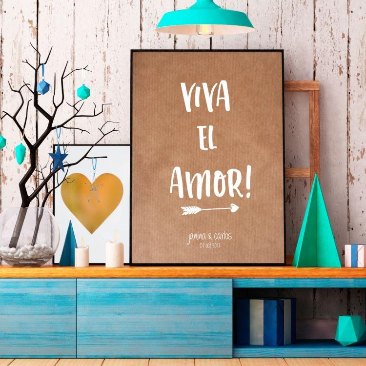 Lámina Viva el Amor!