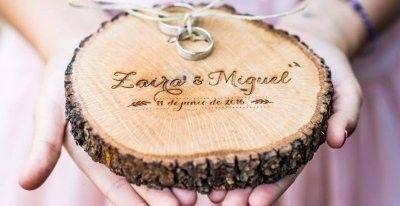 Porta-alianzas de boda personalizados